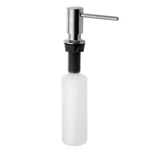 SAPHO - Zápustný dávkovač mydla, guľatý, nerez (SP010)