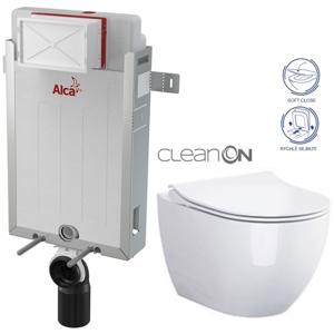 /SET/ALCAPLAST - SET Renovmodul - předstěnový instalační systém + WC OPOCZNO CLEANON URBAN HARMONY + SEDÁTKO (AM115/1000 X HA1)