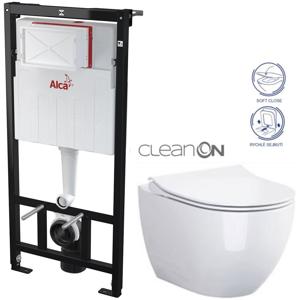 /SET/ALCAPLAST - SET Sádromodul - předstěnový instalační systém určený pro suchou instalaci 1,2 m + WC OPOCZNO CLEANON URBAN HARMONY + SEDÁTKO (AM101/1120 X HA1)