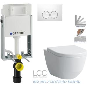 /SET/GEBERIT - SET KOMBIFIXBasic vrátane ovládacieho tlačidla DELTA 21 Biele pre závesné WC LAUFEN PRO LCC RIMLESS + SEDADLO (110.100.00.1 21BI LP2)