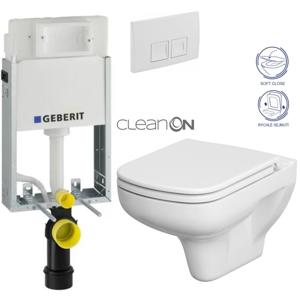 /SET/GEBERIT - SET KOMBIFIXBasic včetně ovládacího tlačítka DELTA 50 Bílé pro závěsné WC CERSANIT CLEANON COLOUR + SEDÁTKO (110.100.00.1 50BI CN1)