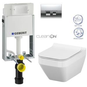 /SET/GEBERIT - SET KOMBIFIXBasic včetně ovládacího tlačítka DELTA 50 CR pro závěsné WC CERSANIT CLEANON CREA ČTVEREC + SEDÁTKO (110.100.00.1 50CR CR2)