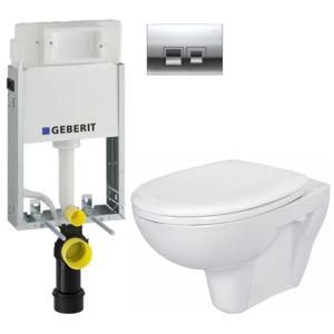 GEBERIT - SET KOMBIFIXBasic vrátane ovládacieho tlačidla DELTA 50 CR pre závesné WC CERSANIT PRESIDENT + SEDADLO (110.100.00.1 50CR PR1)