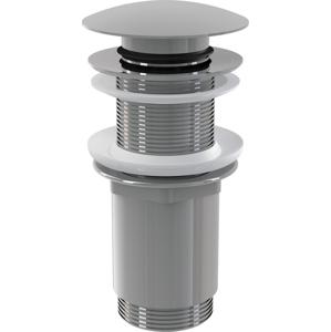 Sifonová vpusť 5/4 click/clack pro um.bez přepadu chrom kov velká (ALCAPLAST Plast) A395 (A395)