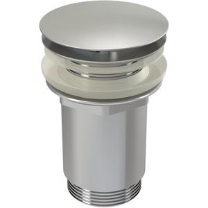 Sifonová vpusť 5/4 pro um.bez přepadu chrom kov velká (ALCAPLAST Plast) A396 (A396)