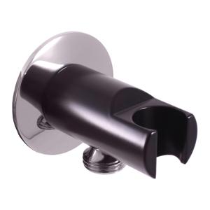 SLEZAK-RAV - Držák sprchy s vývodem pro hadici - černá matná/chrom, Barva: černá matná/chrom (MD0614RCMATC)