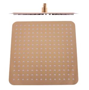 SLEZAK-RAV - Hlavová sprcha hranatá kovová 30x30 cm - Zlatá, Barva: zlato (KS0004Z)