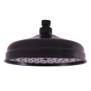 SLEZAK-RAV - Hlavová sprcha kulatá kovová ø 20 cm ČERNÁ MATNÁ, Barva: černá matná (KS0020CMAT)