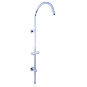 SLEZAK-RAV - Sprchová tyč k bateriím s hlavovou a ruční sprchou , Barva: chrom (MD0554)