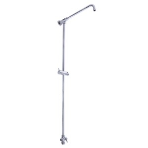SLEZAK-RAV - Sprchová tyč k bateriím s hlavovou a ruční sprchou s přepínačem, Barva: chrom, Rozměr: 1/2'' (SD0101)