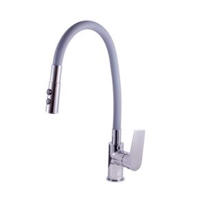 SLEZAK-RAV - Vodovodní baterie dřezová s flexibilním ramínkem se sprchou COLORADO, Barva: chrom/šedá, Rozměr: 1/2'' (CO119.5/12)