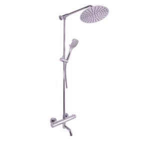 SLEZAK-RAV - Vodovodní baterie vanová TERMOSTATICKÁ s hlavovou a ruční sprchou, Barva: chrom - teleskopická tyč, Rozměr: 150 mm (TRM88.5/5)