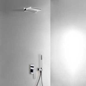 SLIM-TRES: Podomietkový sprchový set s uzáverom a reguláciou prietoku (20218005)