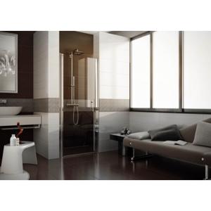 Sprchové dveře DOMUS - 80 - 83 cm, 190 cm, Pravé (DX), Leštěný hliník, Čiré bezpečnostní sklo - 6 mm (BQD0204DXC)