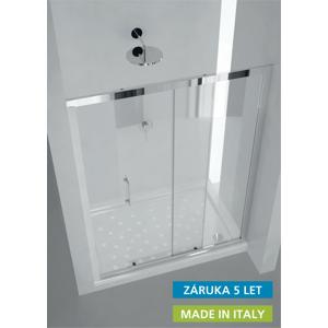 Sprchové dveře HOPA MAYA - 122 - 130 cm, 190 cm, Univerzální, Leštěný hliník, Transparente bezpečnostní sklo (BLMA103CC)