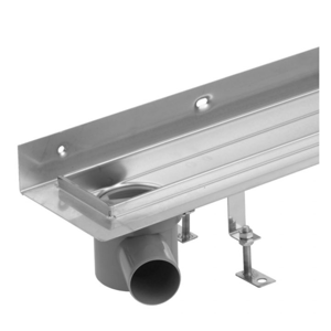 Sprchový žlab Klasik nerez 1000mm ke zdi, sifon vlevo (HLZNK100) (LV-HLZNK100)