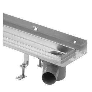 Sprchový žlab Klasik nerez 600mm ke zdi, sifon vpravo (HLZNK061) (LV-HLZNK061)