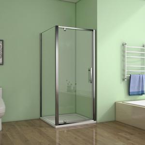 STACATO - FLEUR LINE čtvercová sprchová zástěna 700x700mm - otočné dveře s boční stěnou (SF470SF370)