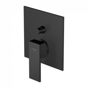 STEINBERG - Podomietková páková batéria pre vaňu/ sprchu s prepínačom, čierna mat (160 2103 S)