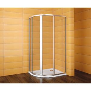 TEIKO sprchový kout čtvrtkruhový pro Virgo SKKH 2/100-80 R55 SKLO BÍLÝ 100x80x185 (V331100N52T22011)
