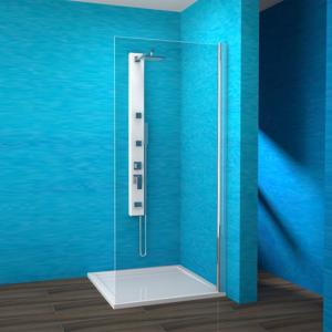 TEIKO sprchová stěna pevná EBS 90 SKLO PRAVÁ ELOX 90x190 (V336090R55T80002)
