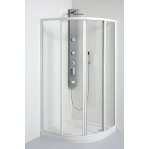 TEIKO sprchový kout čtvrtkruhový SKKH 2/90 R55 PEARL BÍLÝ 90x90x185 (V331090N51T22551)