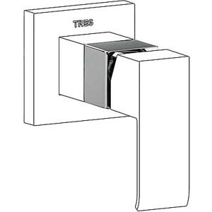 TRES - DOPLNKY Nadstavec pre vstavanú jednopákovú sprchu (10617710)