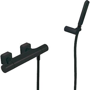 TRES - Termostatická sprchová batéria Ručná sprcha s nastaviteľným držiakom, proti usa. vôd. kameňa a flexi hadice. (20016409NM)