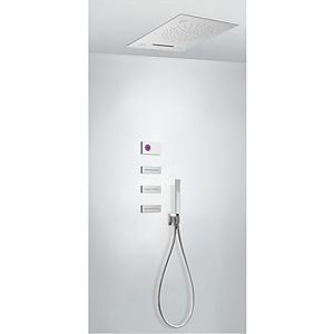 TRES - Termostatický podomietkový elektronický sprchový set SHOWER TECHNOLOGY CHROMOTHERAPY (09286402)