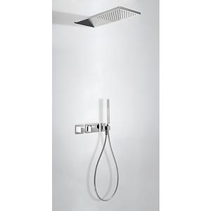 TRES TRESMOSTATIC Podomietkový termostatický sprchový set dvojcestný (20725202BL)