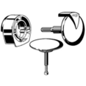 VIEGA s.r.o. - Sifonový vybavovací set chrom MultiplexTrio MT1 (rozeta, přítok.kryt a zátka) V 306847 (V 306847)