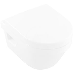 VILLEROY & BOCH - Architectura Závěsné WC Compact, zadní odpad, DirectFlush, CeramicPlus, alpská bílá (4687R0R1)