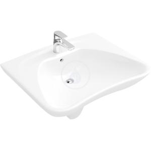 VILLEROY & BOCH - O.novo Umývadlo Vita, 600 mm x 490 mm, biele – jednootvorové umývadlo, bez prepadu (71196101)