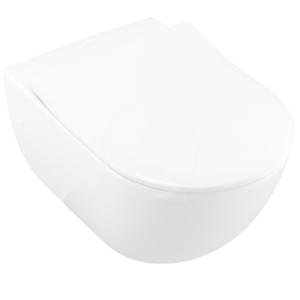 VILLEROY & BOCH - Subway Závěsné WC, zadní odpad, DualFlush, CeramicPlus, alpská bílá (660010R1)