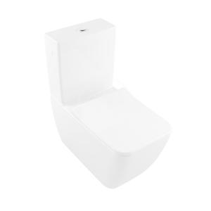 VILLEROY & BOCH - Venticello WC kombi mísa, Vario odpad, DirectFlush, CeramicPlus, alpská bílá (4612R0R1)