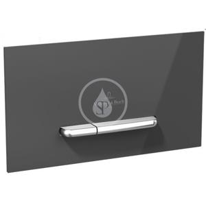 VILLEROY & BOCH - ViConnect Ovládacie tlačidlo M300, kefovaná nehrdzavejúca oceľ/sklo – Glossy Black (922160RB)