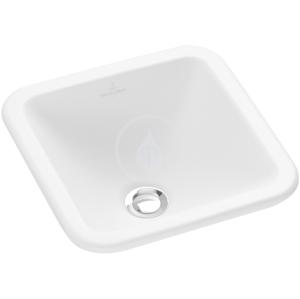 VILLEROY & BOCH - Loop&Friends Bezotvorové umývadlo, 450 mm x 450 mm, biele – umývadlo, s prepadom, s Ceramicplus (615620R1)