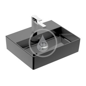 VILLEROY & BOCH VILLEROY & BOCH - Memento 2.0 Umyvadlo 600x420 mm, bez přepadu, otvor pro baterii, CeramicPlus, Glossy Black (4A2261S0)