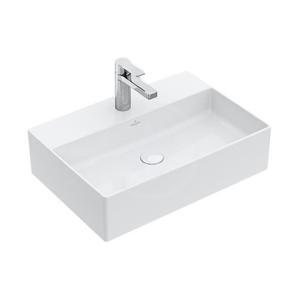 VILLEROY & BOCH - Memento 2.0 Umývadlo na dosku bez prepadu, 500 mm x 420 mm – s CeramicPlus, alpská biela (4A0751R1)