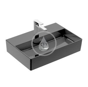 VILLEROY & BOCH VILLEROY & BOCH - Memento 2.0 Umyvadlo nábytkové 600x420 mm, bez přepadu, otvor pro baterii, CeramicPlus, Glossy Black (4A226LS0)