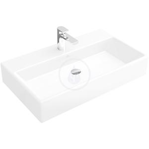 VILLEROY & BOCH - Memento Umývadlo, 800 mm x 470 mm, biele – bezotvorové umývadlo, s prepadom, s Ceramicplus (51338JR1)